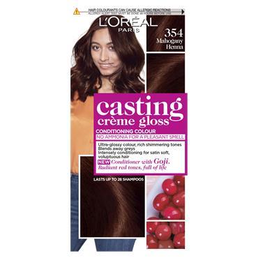 L'Oreal Paris Casting Creme Gloss 354 Mahogany Henna Brown Semi Permanent Hair Dye