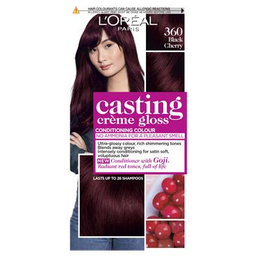 L'Oreal Paris Casting Creme Gloss 360 Black Cherry Red Semi Permanent Hair Dye