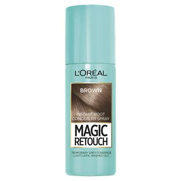 L'Oreal Paris Magic Retouch Brown Temporary Instant Grey Root Concealer Spray 75ml