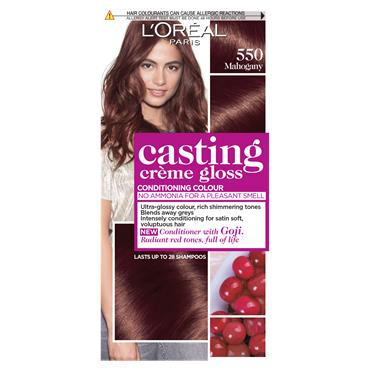 L'Oreal Paris Casting Creme Gloss 550 Mahogany Brown Semi Permanent Hair Dye