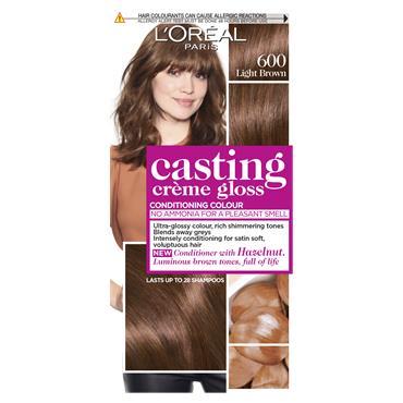 L'Oreal Paris Casting Creme Gloss 600 Light Brown Semi Permanent Hair Dye