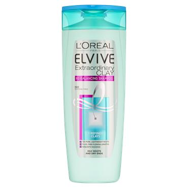 L'Oreal Paris Elvive Extraordinary Clay Re-Balancing Shampoo 400ml