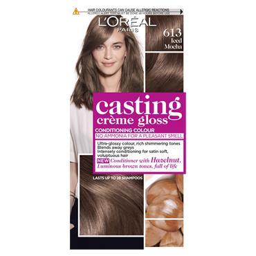 L'Oreal Paris Casting Creme Gloss 613 Iced Mocha Brown Semi Permanent Hair Dye