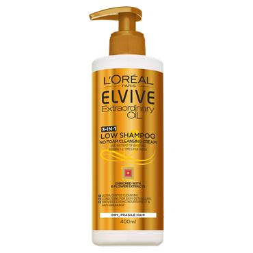 L'Oreal Paris Elvive Extraordinary Oil Low Shampoo Gentle Cleansing Cream 400ml