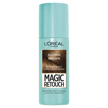 L'Oreal Paris Magic Retouch Golden Brown Temporary Instant Grey Root Concealer Spray 75ml