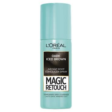 L'Oreal Paris Magic Retouch Dark Iced Brown Temporary Instant Grey Root Concealer Spray 75ml