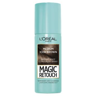 L'Oreal Paris Magic Retouch Medium Iced Brown Temporary Instant Grey Root Concealer Spray 75ml