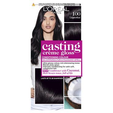 L'Oreal Paris Casting Creme Gloss 100 Liquorice Black Semi Permanent Hair Dye