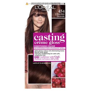 L'Oreal Paris Casting Creme Gloss 454 Chocolate Brownie Brown Semi Permanent Hair Dye