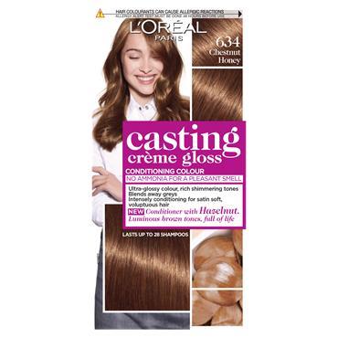 L'Oreal Paris Casting Creme Gloss 634 Chestnut Honey Brown Semi Permanent Hair Dye