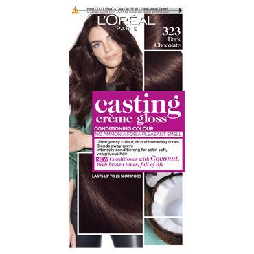L'Oreal Paris Casting Creme Gloss 323 Dark Chocolate Brown Semi Permanent Hair Dye