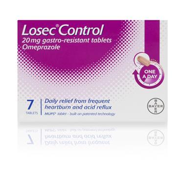 Losec Control Heartburn 7 Tablets