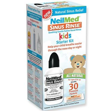 NeilMed Sinus Rinse Kids Starter Kit 120ml Bottle & 30 Premixed Sachets