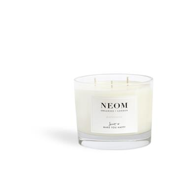 Neom Organics Happiness Scented Candle 3 Wick
