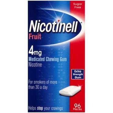Nicotinell Nicotine Gum Fruit 4mg 96s