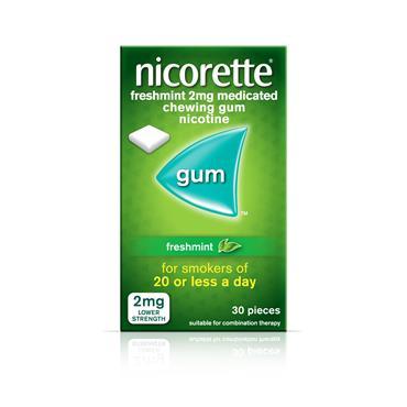 Nicorette Freshmint Gum 2Mg 30s