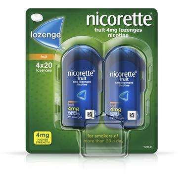 Nicorette Lozenge Fruit 4Mg 80s