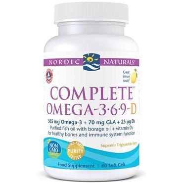 Nordic Naturals Complete Omega-3.6.9-D 60 Soft Gels