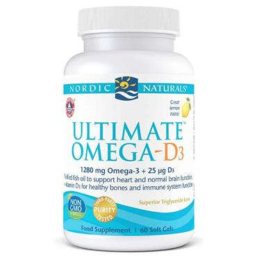 Nordic Naturals Ultimate Omega-D3 60 Soft Gels