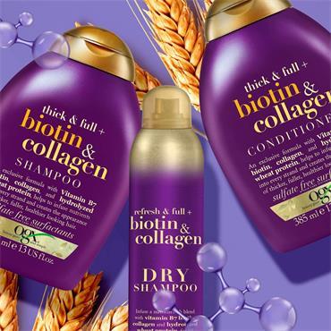 Ogx Thick & Full Biotin and Collagen Volumising Thickening Shampoo 385ml