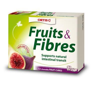 Ortis Fruit & Fibre 12 Chewable Cubes