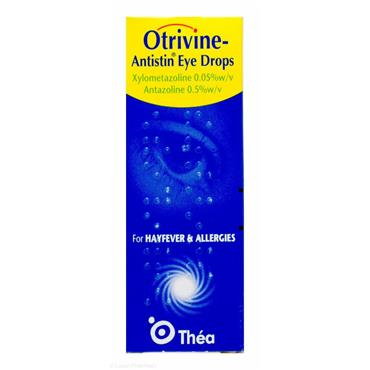 Otrivine Antistin Eye Drops For Hayfever & Allergies 10ml
