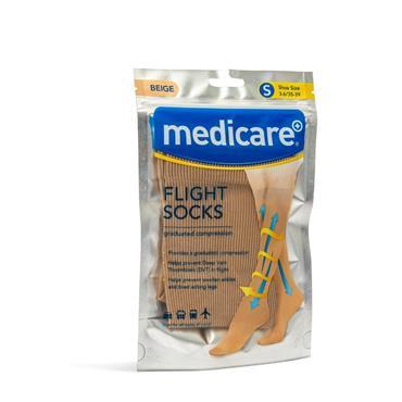 Medicare Flight Socks Beige