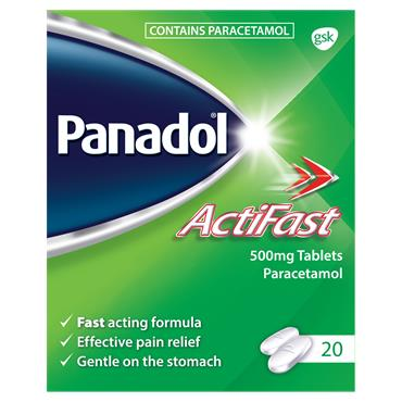 Panadol Actifast 500mg Tablets 20 Tablets