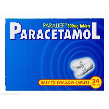 Paralief Paracetamol 500mg Tablets 24 Pack