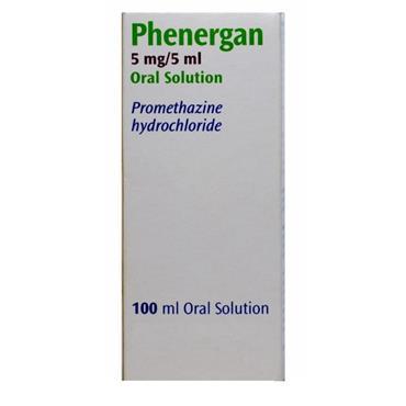 Phenergan Promethazine Oral Solution 5mg/5ml 100ml