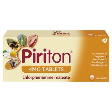 Piriton 4mg Tablets 30 Tablets