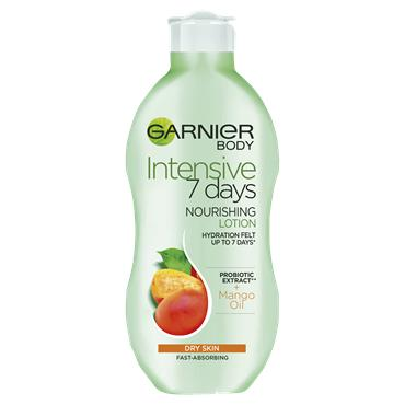 Garnier Intensive 7 Days Mango Probiotic Extract Body Lotion Dry Skin 250ml