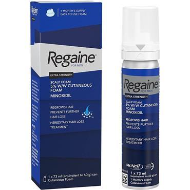 Regaine For Men Extra Strength Scalp Foam For Hair Regrowth 73ml