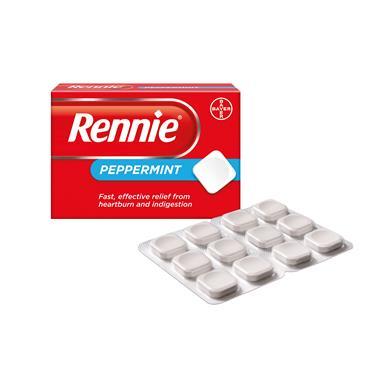 Rennie Peppermint Heartburn & Indigestion Relief 48 Tablets