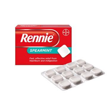 Rennie Spearmint Heartburn & Indigestion Relief 48 Tablets