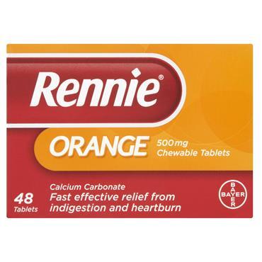 Rennie Orange Heartburn & Indigestion Relief 48 Tablets