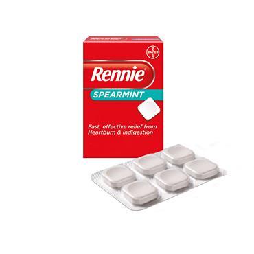 Rennie Spearmint Heartburn & Indigestion Relief 24 Tablets