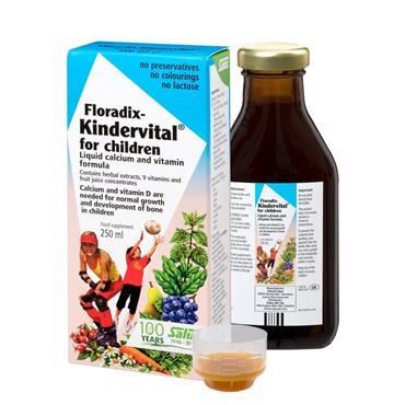 Salus Floradix Kindervital for children Liquid calcium and vitamin formula 500ml