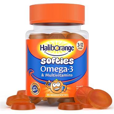 Seven Seas Haliborange Omega-3 and Multivitamins Orange 30 Orange Softies