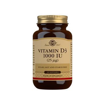 Solgar Vitamin D3 1000 IU (25 µg) Softgels 100s