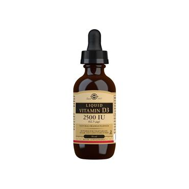 Solgar Liquid Vitamin D3 2500 IU (62.5 µg) - Natural Orange Flavour - 59ml