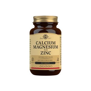 Solgar Calcium Magnesium Plus Zinc Tablets 100s