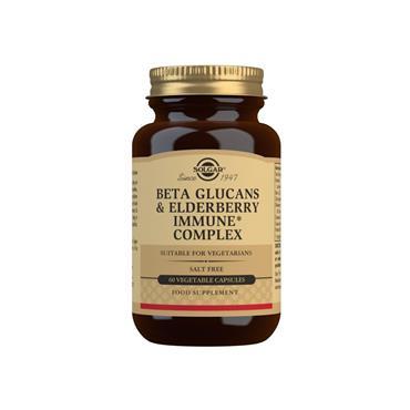 Solgar Beta Glucans & Elderberry Immune Complex Capsules 60s