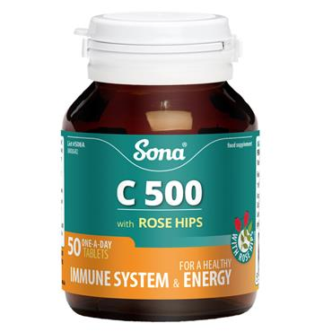 Sona C 500 with Rose Hips 50 Tablets