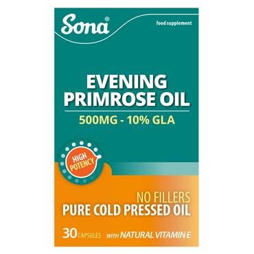 Sona Evening Primrose Oil 500mg 30 Capsules