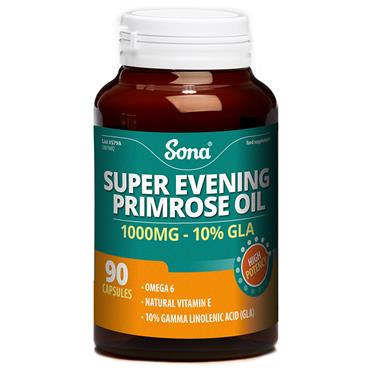 Sona Super Evening Primrose Oil 1000mg 90 Capsules