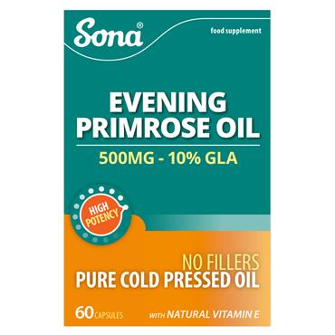 Sona Evening Primrose Oil 500mg 60 Capsules