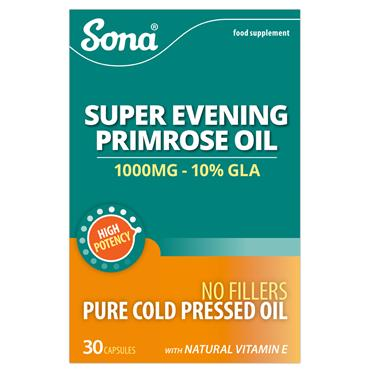 Sona Super Evening Primrose Oil 1000mg 30 Capsules