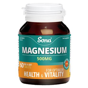 Sona Magnesium 500mg 60 Tablets