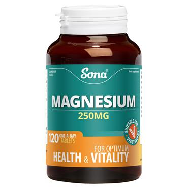 Sona Magnesium 250mg 120 Tablets